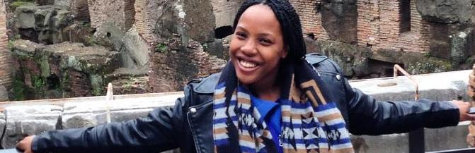 Ashley Etienne during her study abroad in Milan